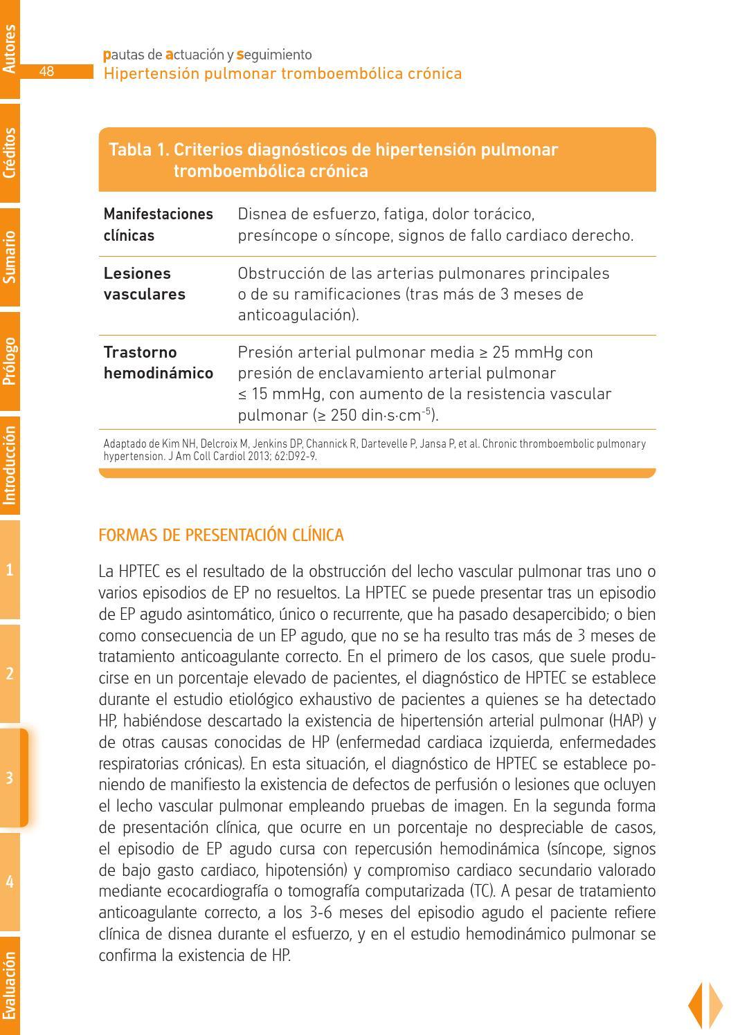 PAS en Hipertensión Pulmonar Tromboembólica Crónica by..