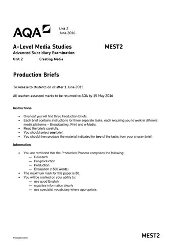 mest 2 coursework brief 2016
