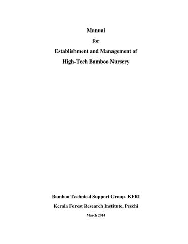Manual for Establishment and Management of High - Tech