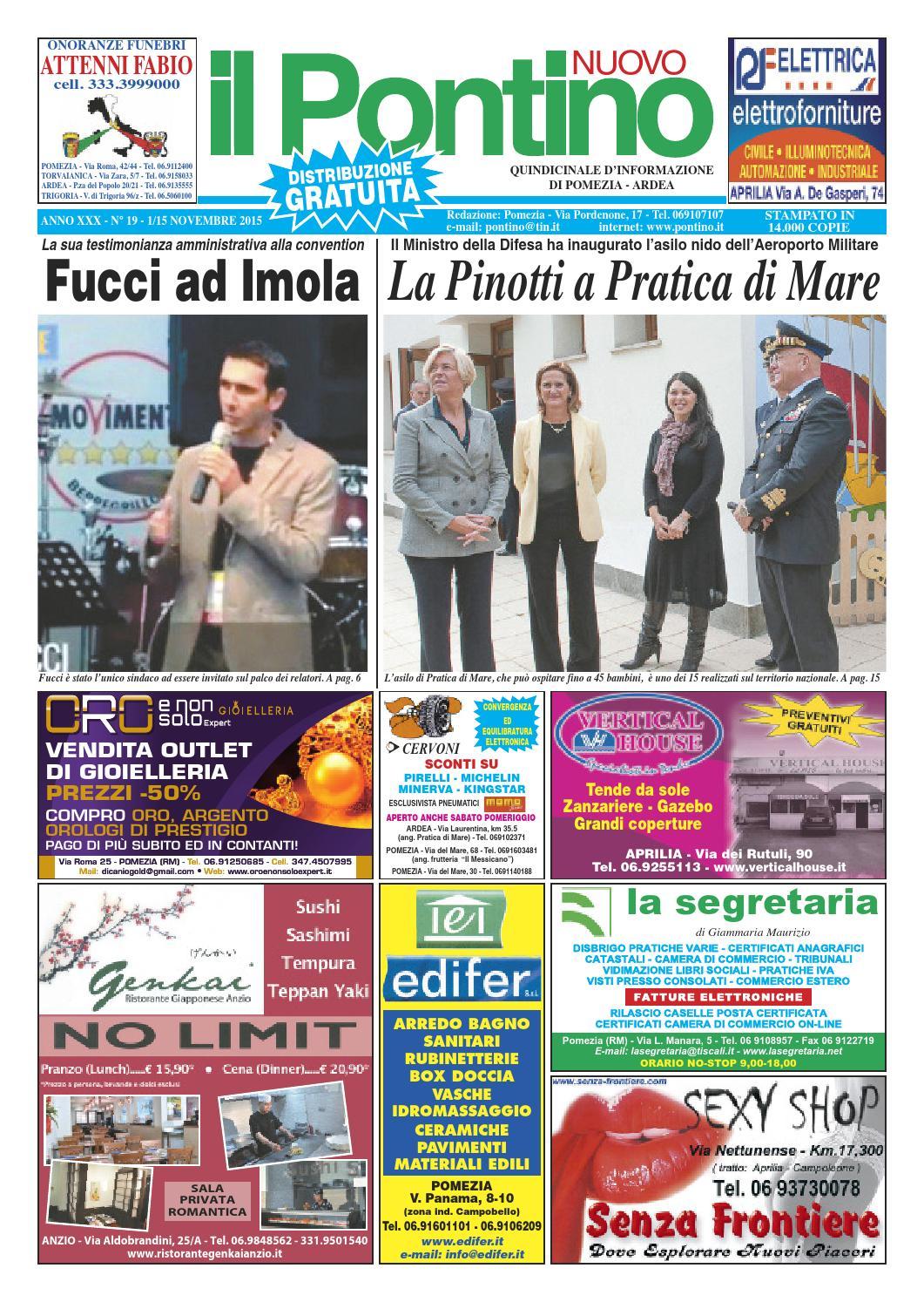 Il Pontino Nuovo - Anno XXX - n. 19 - 1 15 Novembre 2015 by Il Pontino Il  Litorale - issuu bd610383e7e3