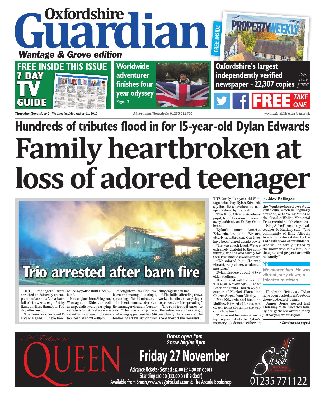 5 November 2015 Oxfordshire Guardian Wantage By Taylor Newspapers Issuu