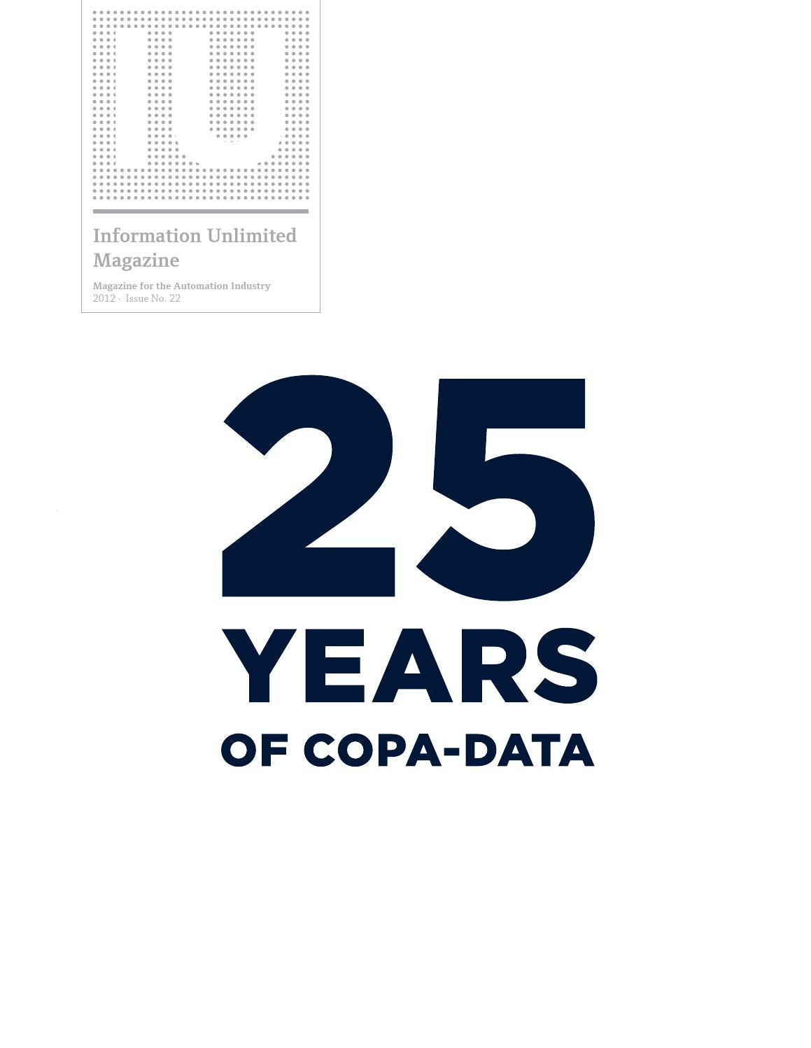 Information Unlimited Magazine - Vol. 22: 25 YEARS of COPA-DATA by ...