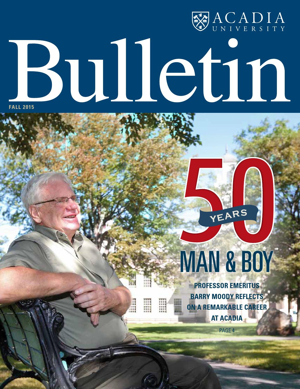 Acadia Bulletin Fall 2015 By Advancement Issuu Evoucer Mcdonald 40000