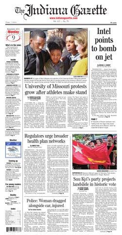 The Indiana Gazette Nov 9 2015 By Indiana Printing Publishing