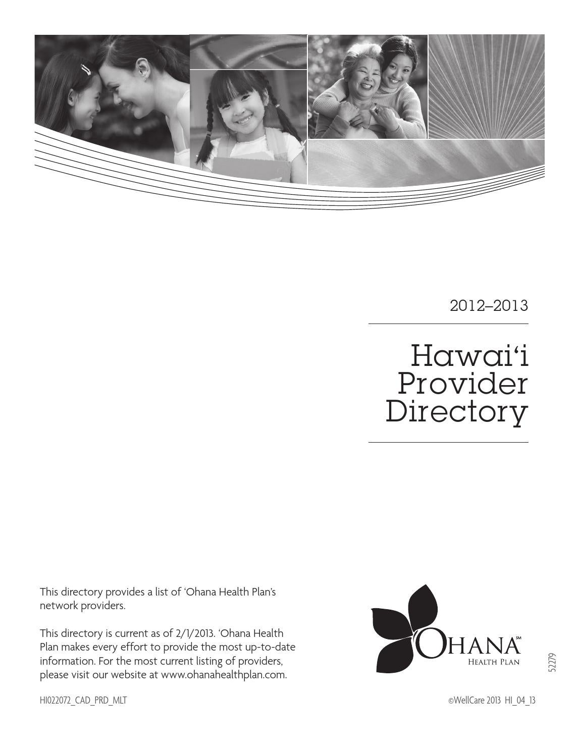 Provider Directory HI 2 by Brian McDowell - issuu