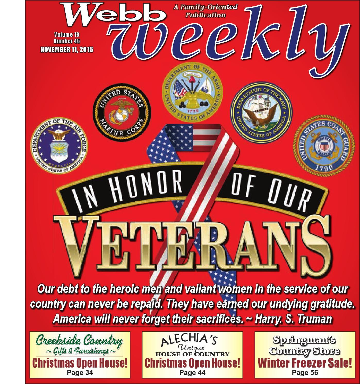 Webb Weekly November 11, 2015 by Webb Weekly issuu