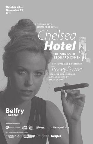 299930f4d97df Chelsea Hotel - The Songs of Leonard Cohen - Show Program by Belfry ...