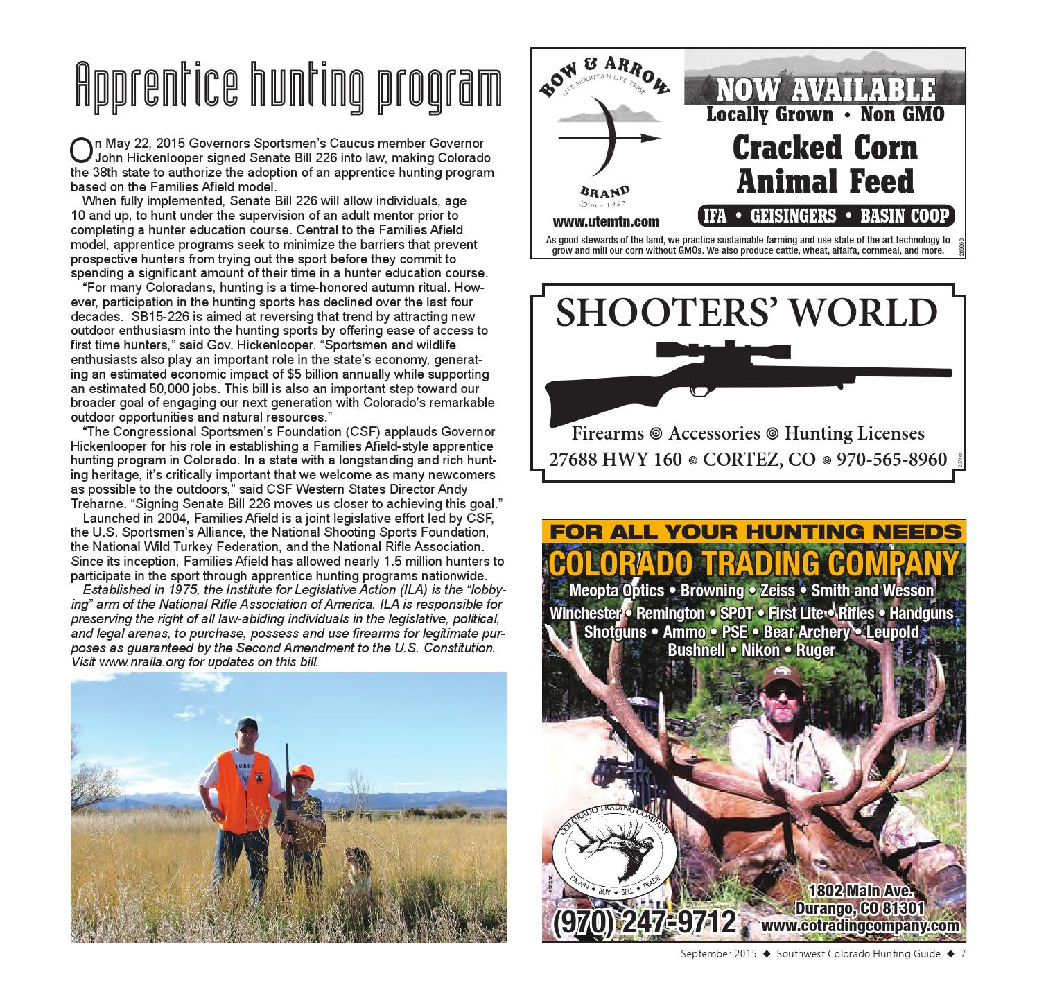 Southwest Colorado Hunting Guide 2015 By Ballantine
