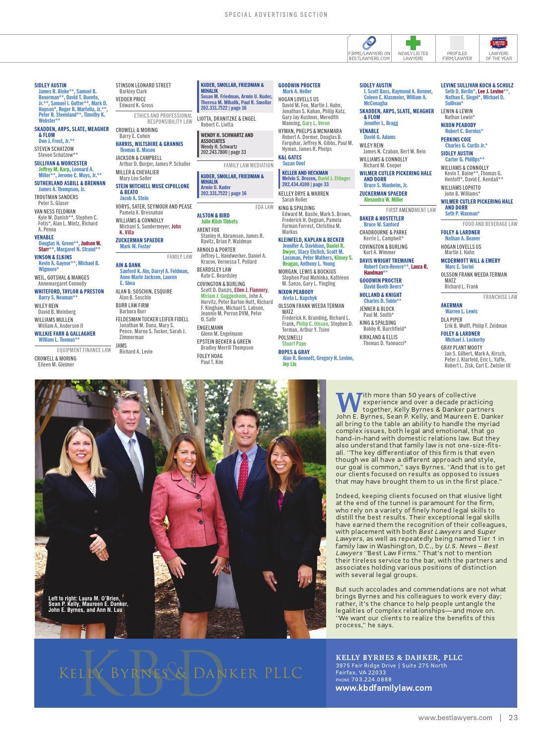 Best Lawyers in Washington, D C  2016 by Best Lawyers - issuu