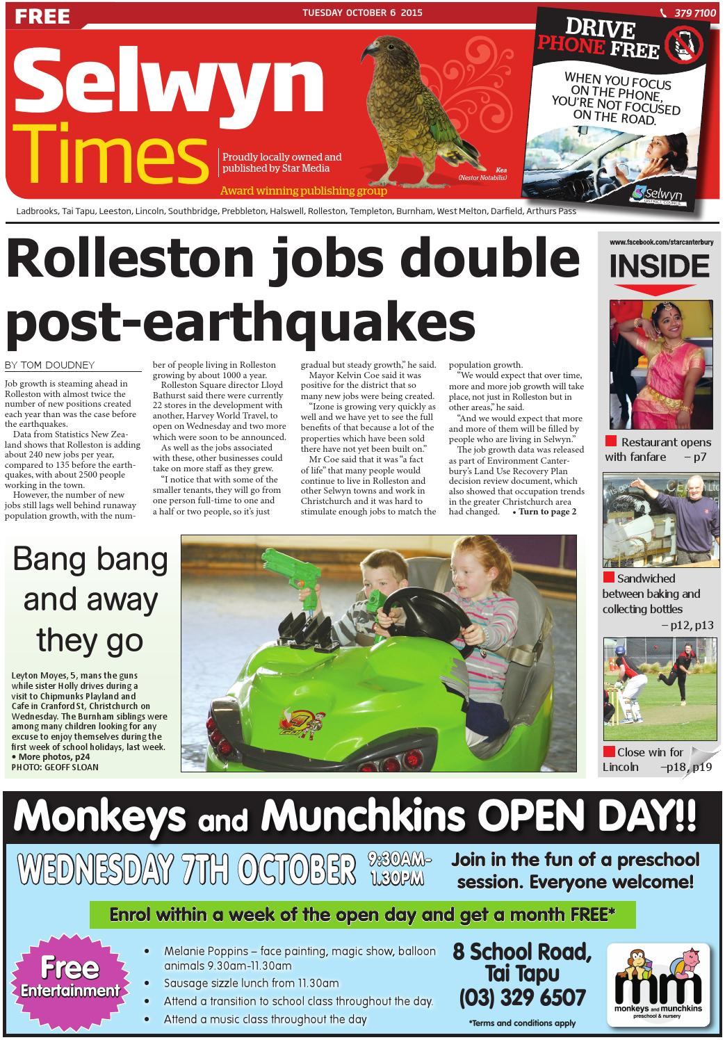 Selwyn Times 06-10-15 by Local Newspapers - issuu