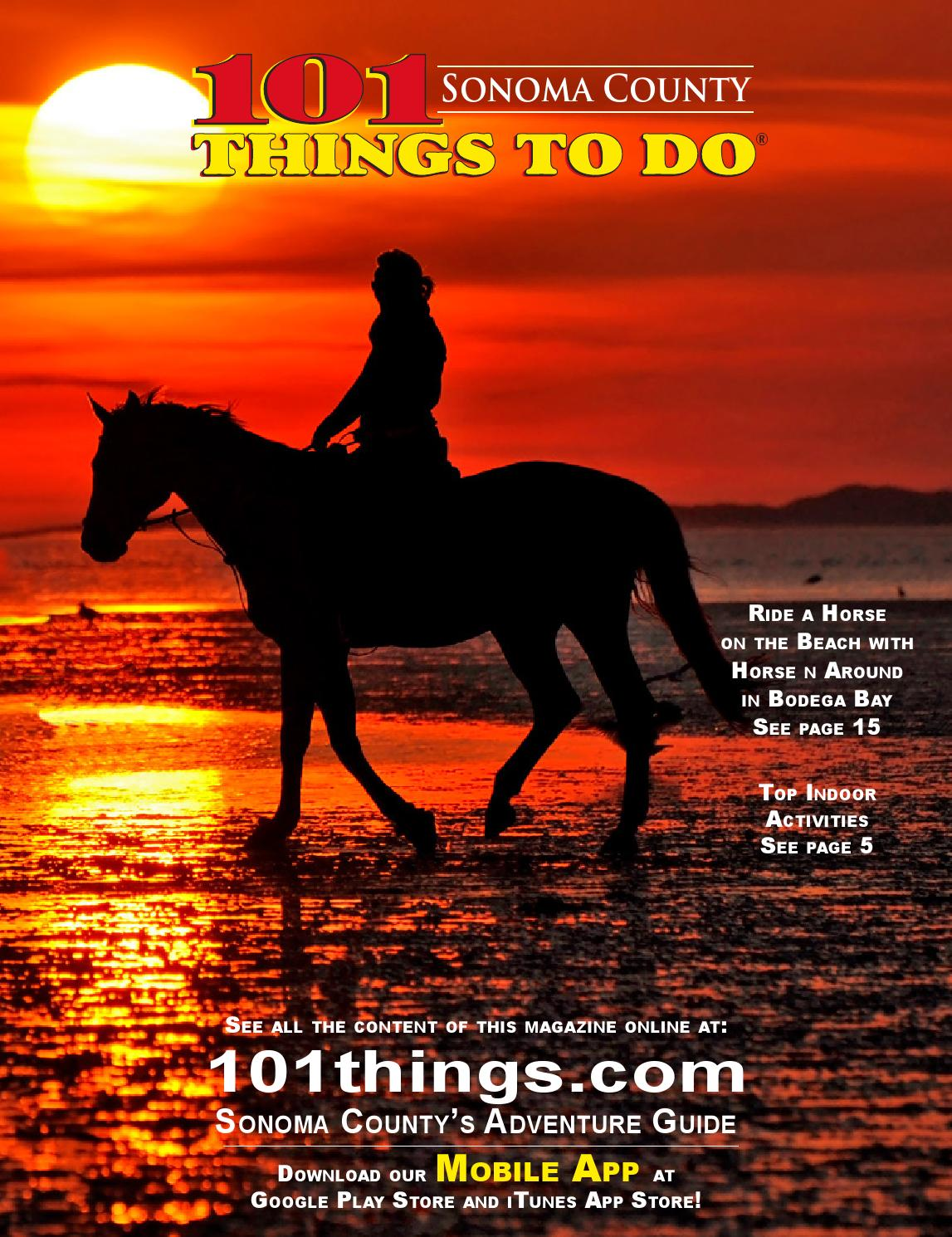 101 things to do somoma county by 101 things to do publications issuu