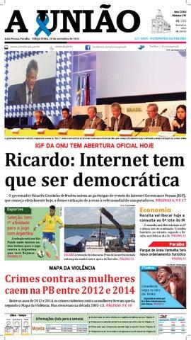 Jornal A União - 10 11 2015 by Jornal A União - issuu fcd5bf48eef95