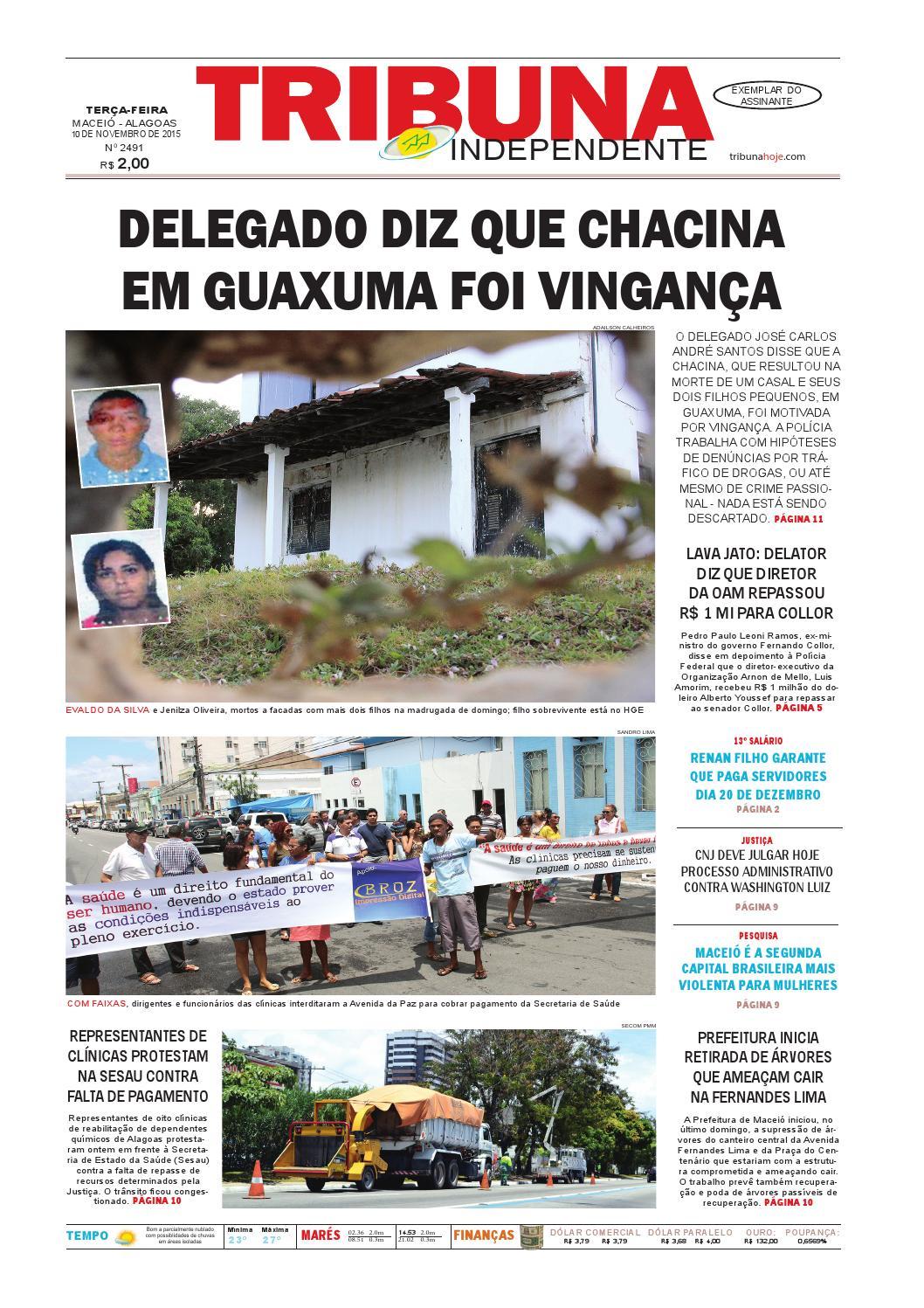 Edição número 2491 - 10 de novembro de 2015 by Tribuna Hoje - issuu 7513da2b4e6