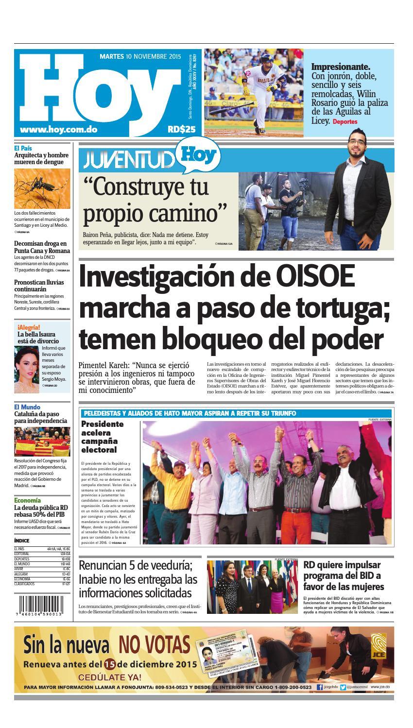 half off ba97d 95875 Periódico 10 de noviembre, 2015 by Periodico Hoy - issuu