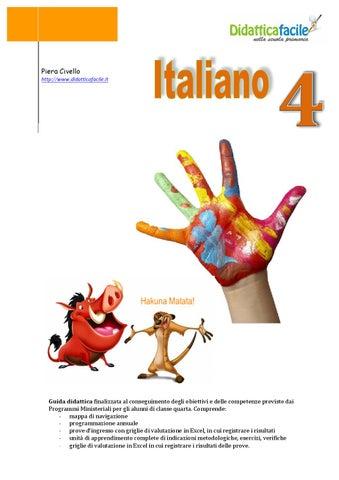 Guida Di Italiano Classe 4 By Piera Civello Issuu