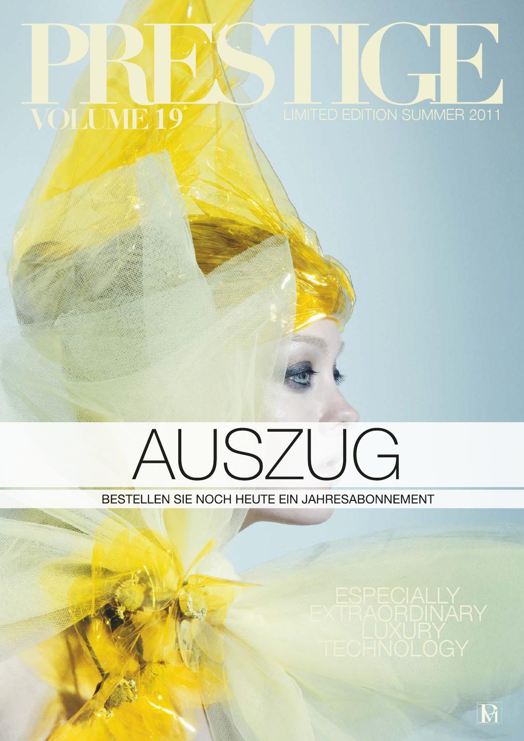 PRESTIGE Switzerland Volume 19 Auszug by rundschauMEDIEN AG - issuu