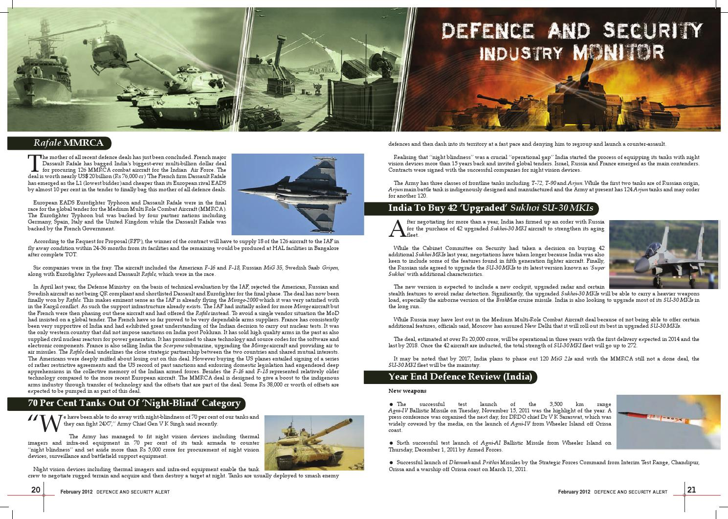 DSA February 2012 by Defence and Security Alert - issuu