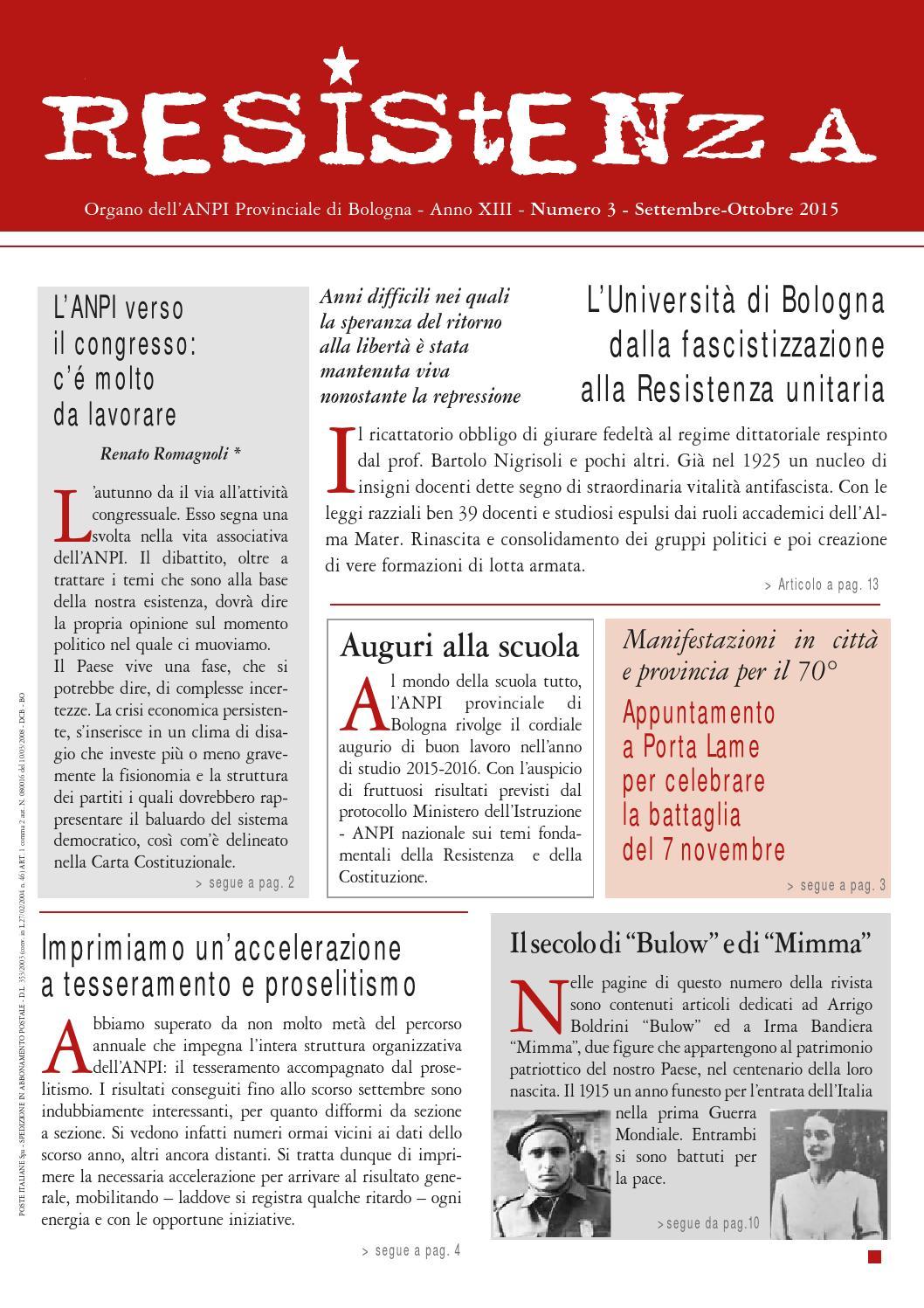 Resistenza n. 3 anno 2015 by ANPI Bologna - issuu 4036ff6b7814