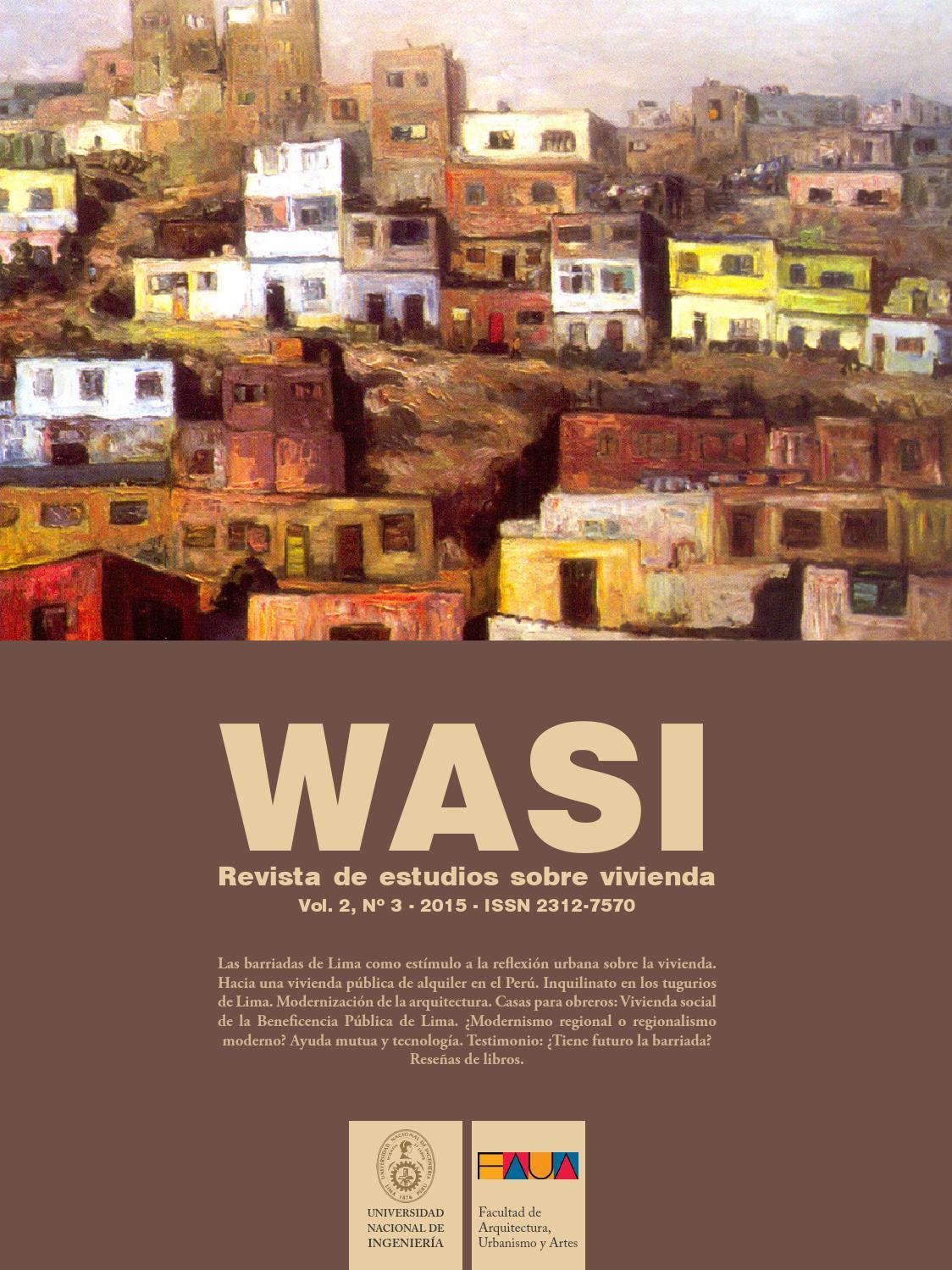 Wasi Vol 2 N 3 Revista De Estudios Sobre Vivienda By