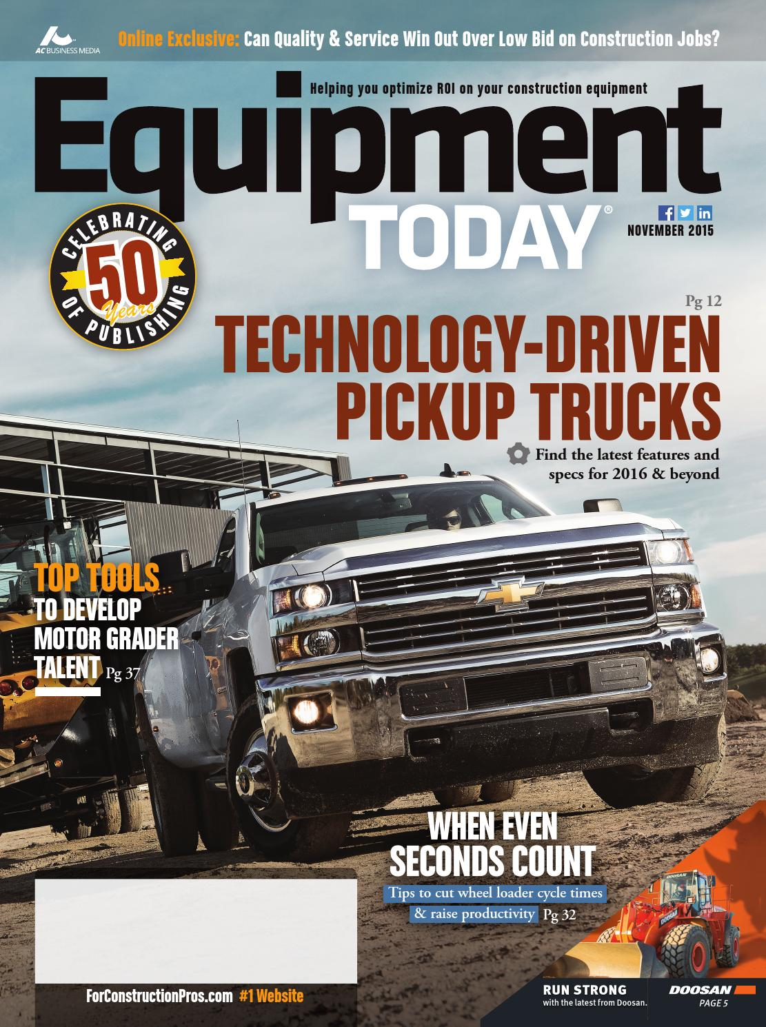 Equipment Today November 2015 By Forconstructionproscom Issuu 1994 Nissan Pathfinder Only Runthe Switch In Start Position