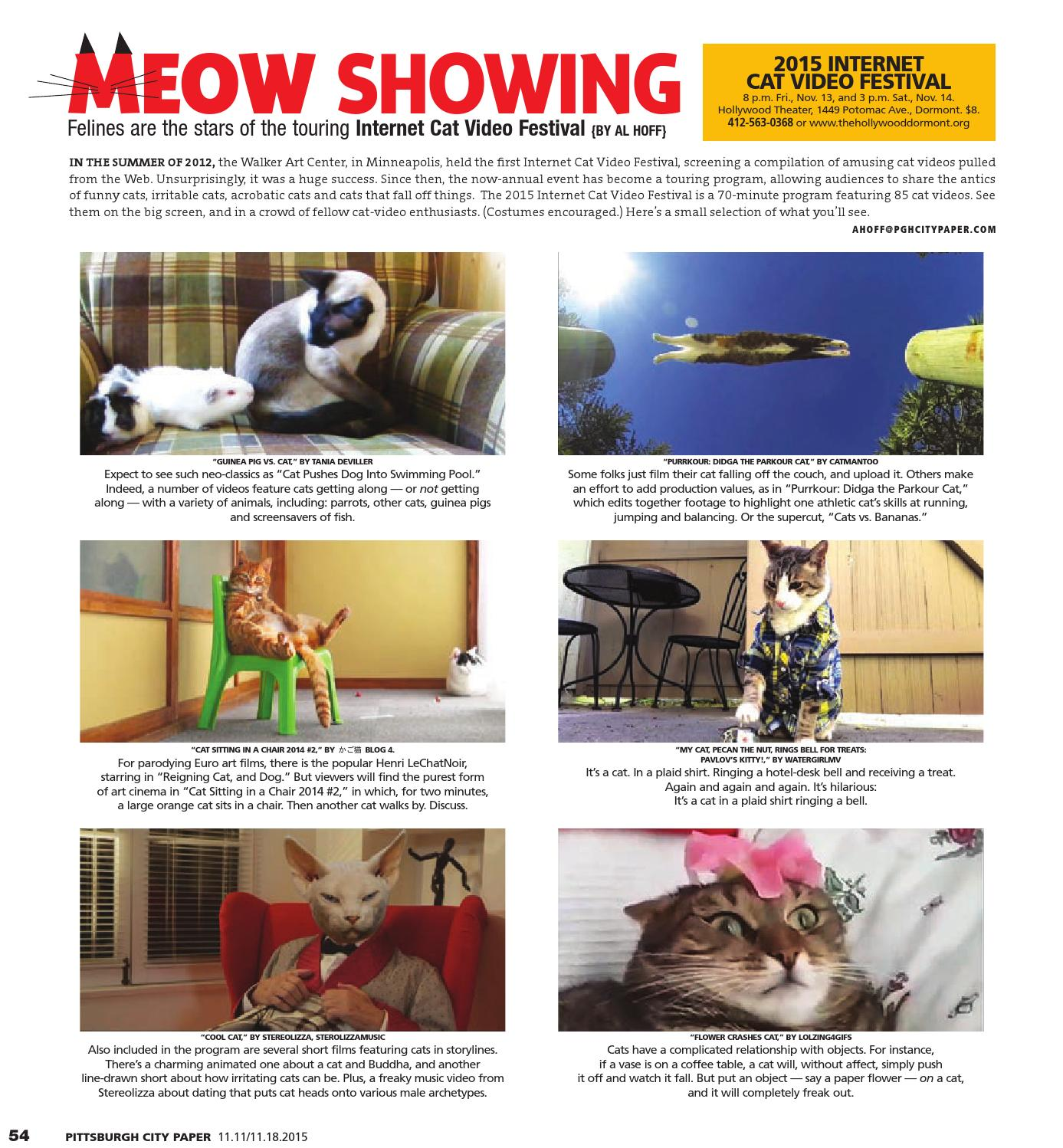 November 11, 2015 - Pittsburgh City Paper by Pittsburgh City