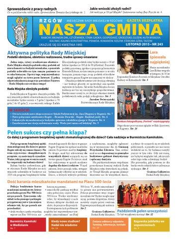 1b8a0be196 Rzgów Nasza Gmina nr 243(listopad 2015) by decowell - issuu