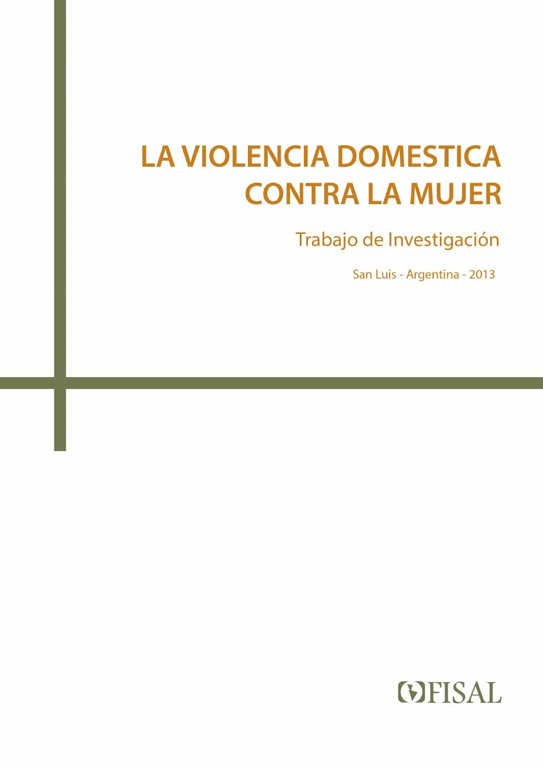 La violencia domestica contra la mujer by Fisal San Luis - issuu