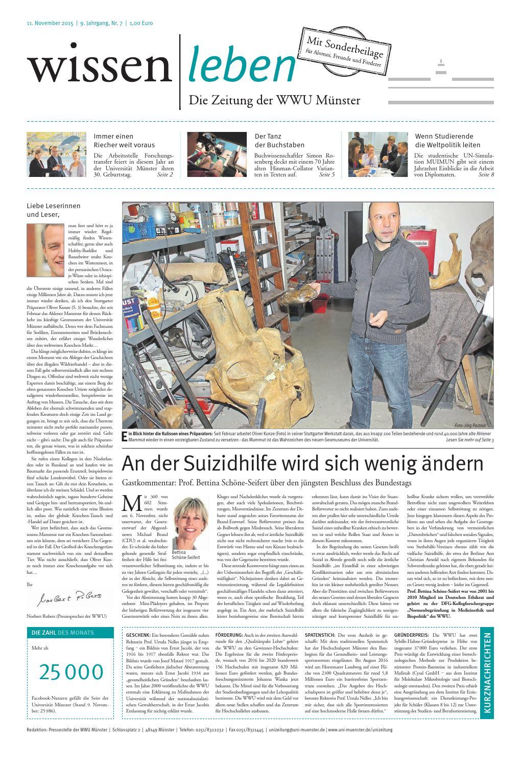 WISSEN|LEBEN - DIE ZEITUNG DER WWU by Westfälische Wilhelms-Universität  Münster - issuu