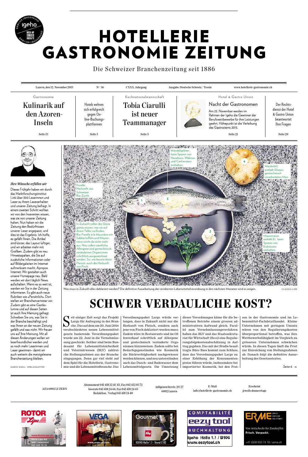 HG-Zeitung 35/2015 by Hotellerie_Gastronomie_Verlag - issuu