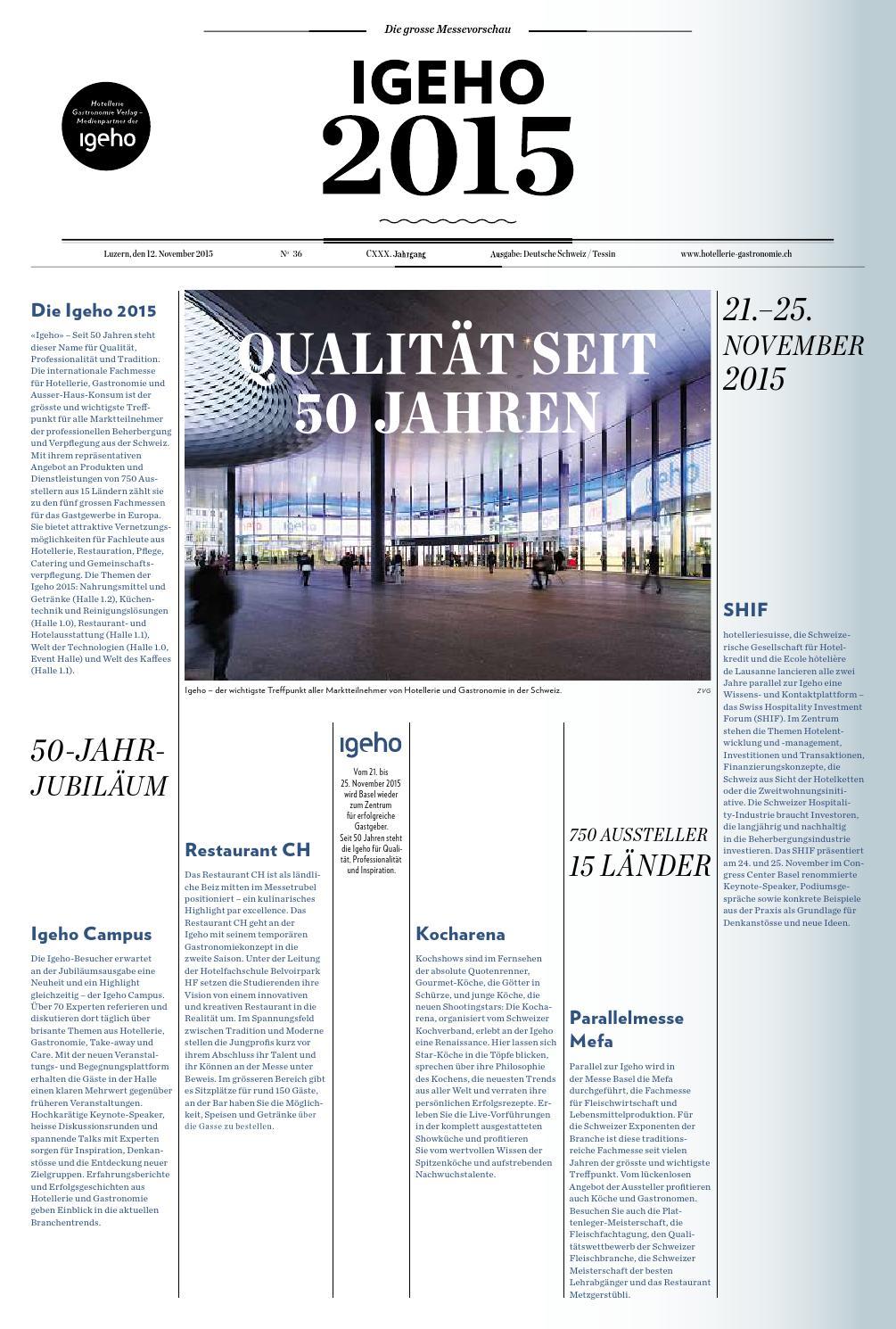 Sonderbund Igeho 2015 by Hotellerie_Gastronomie_Verlag - issuu
