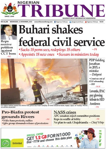 bbfd227b076a9 12th November 2015 by Nigerian Tribune - issuu
