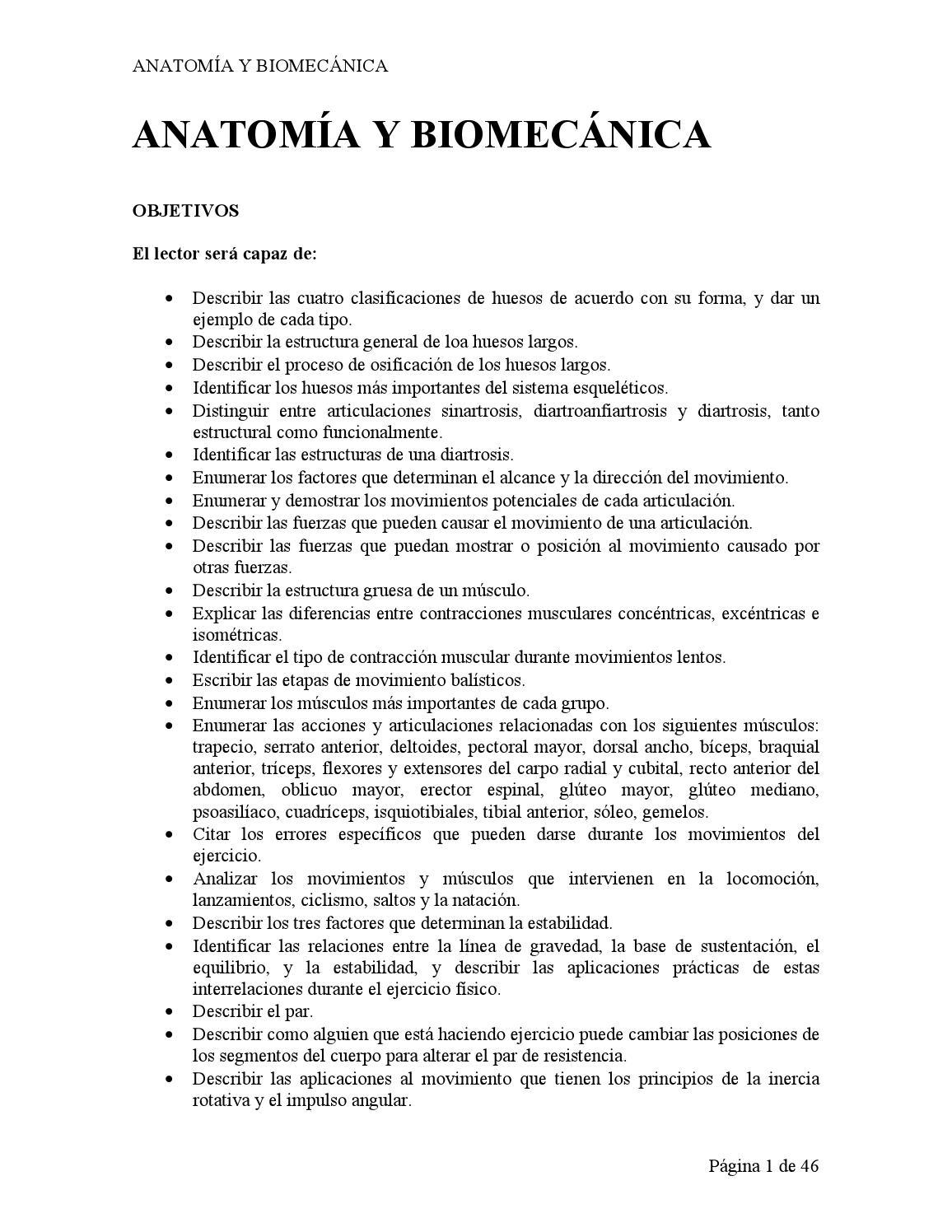 Anatomia y biomecanica by lahuel rojas - issuu