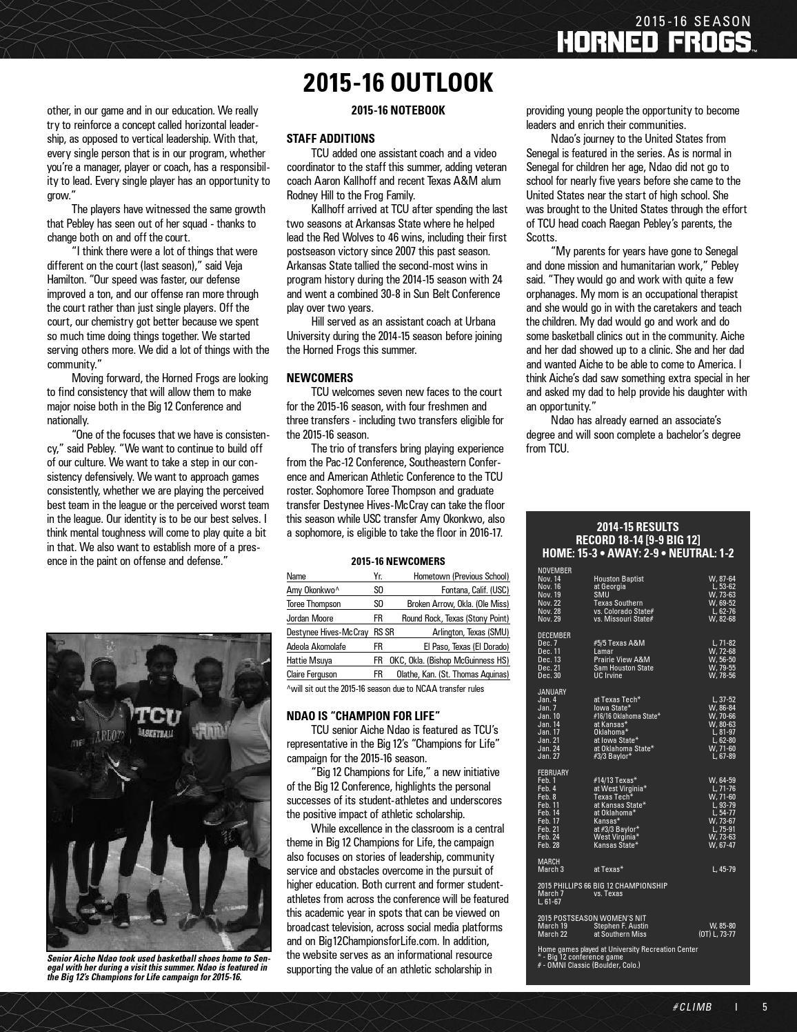 Tcu Guide Book 2015/16