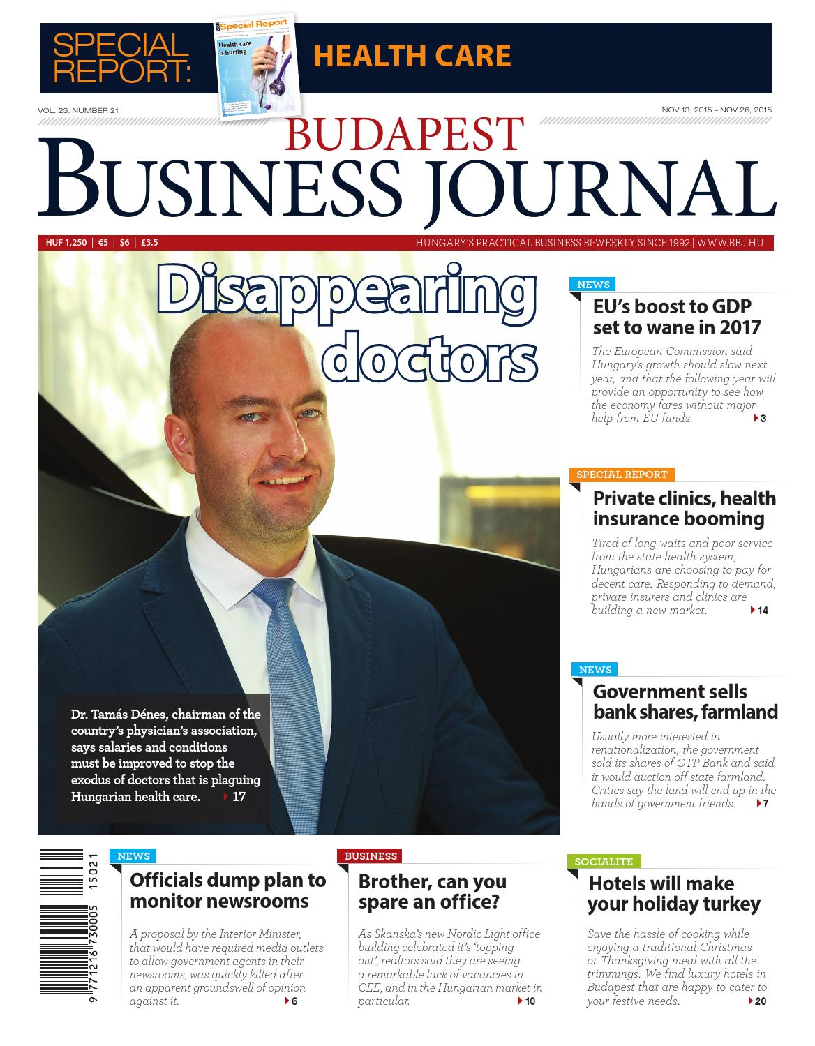 Atlatszo feju hal 124 - Budapest Business Journal 23 21 By Business Publishing Services Kft Issuu