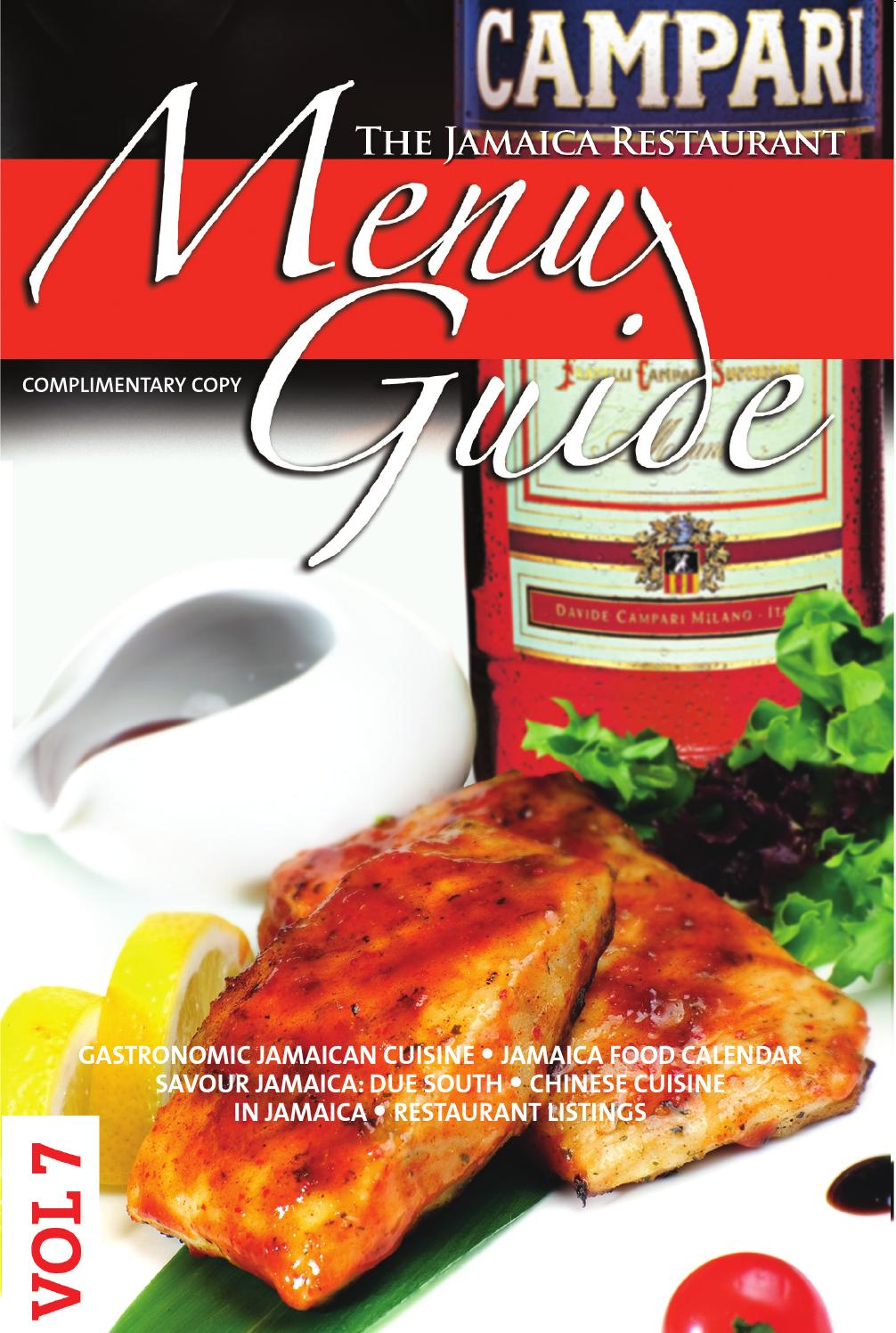 jamaica restaurant menu guide voume 7jamaica menu