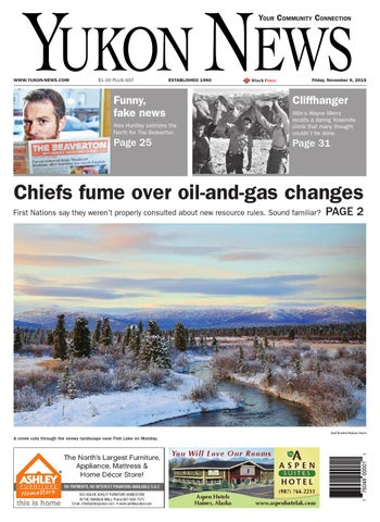 Yukon News November 06 2015 By Black Press