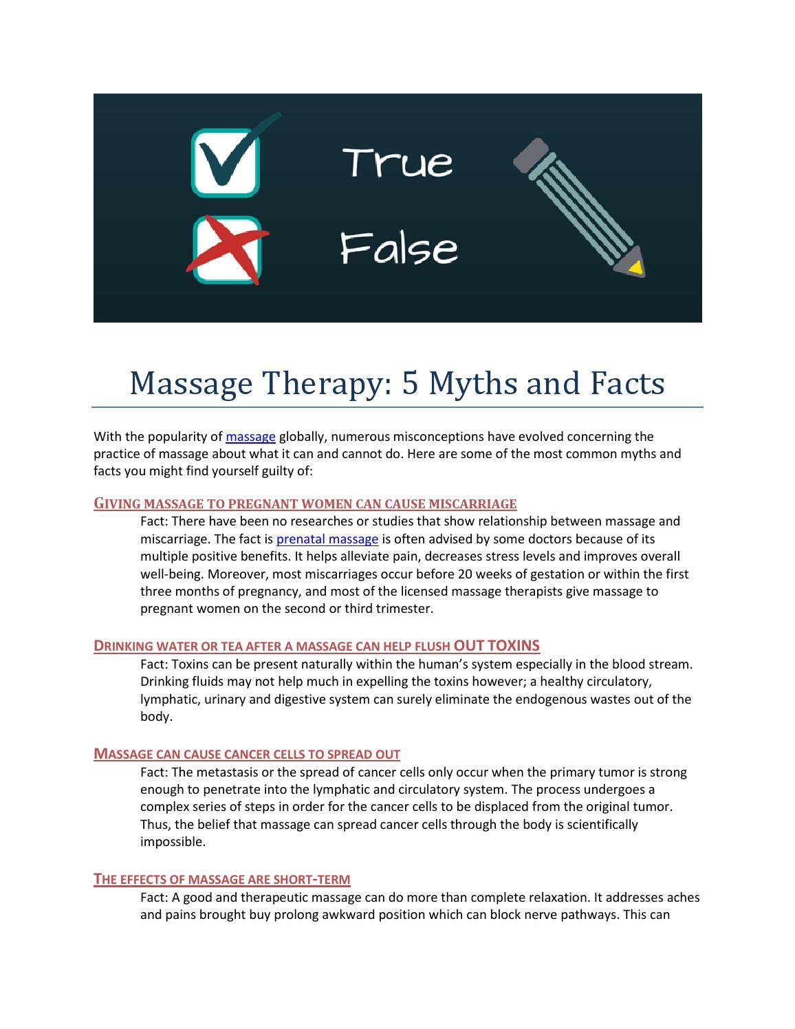 Massage Therapy 5 Myter og fakta af Dianne Myo - Issuu-9218