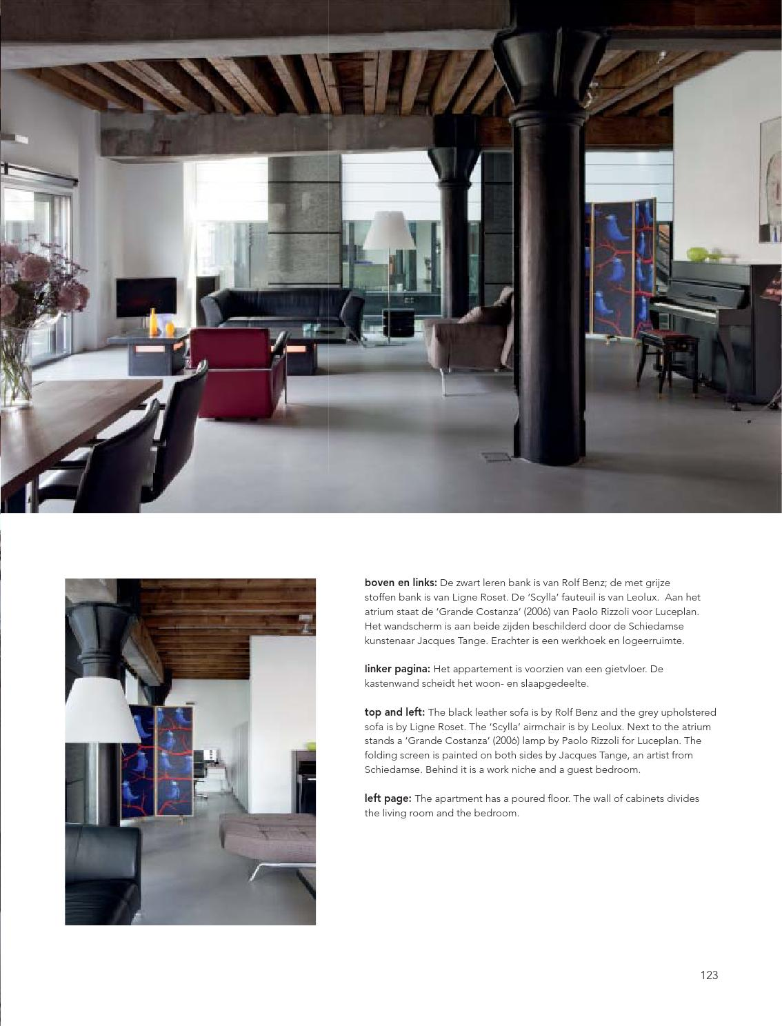 Leren Bank Van Rolf Benz.Loft Interieurs St Job Rotterdam By Mei Architects And Planners Issuu
