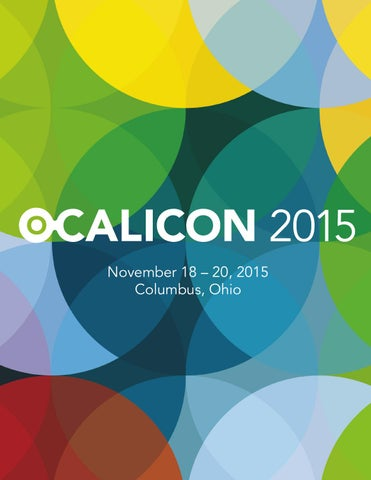 Ocalicon 2015 program by ocali issuu november 18 x20acx201c 20 2015 columbus ohio malvernweather Images