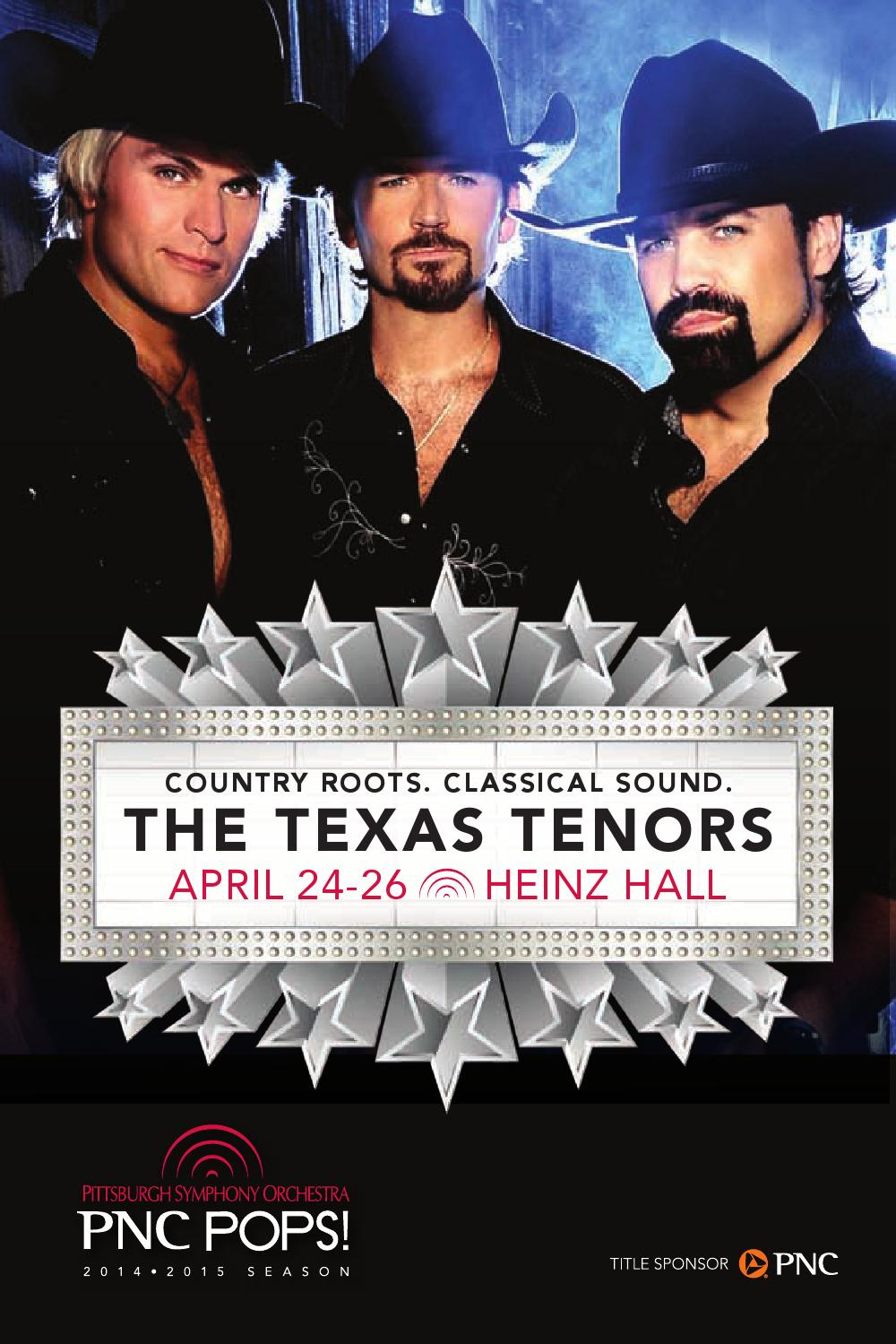 2014 2015 Pnc Pops The Texas Tenors By Pittsburgh Symphony Jason Zimba Wiring Diagram Interactive Orchestra Issuu