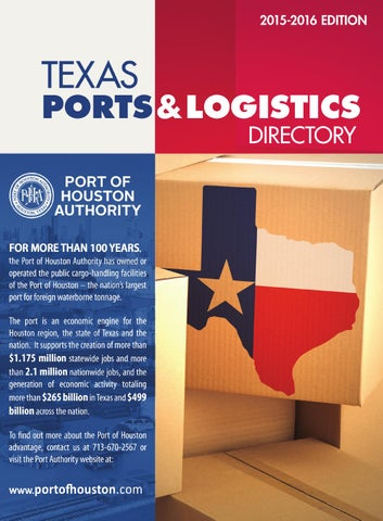 Texas Ports & Logistics Directory by Port of Houston