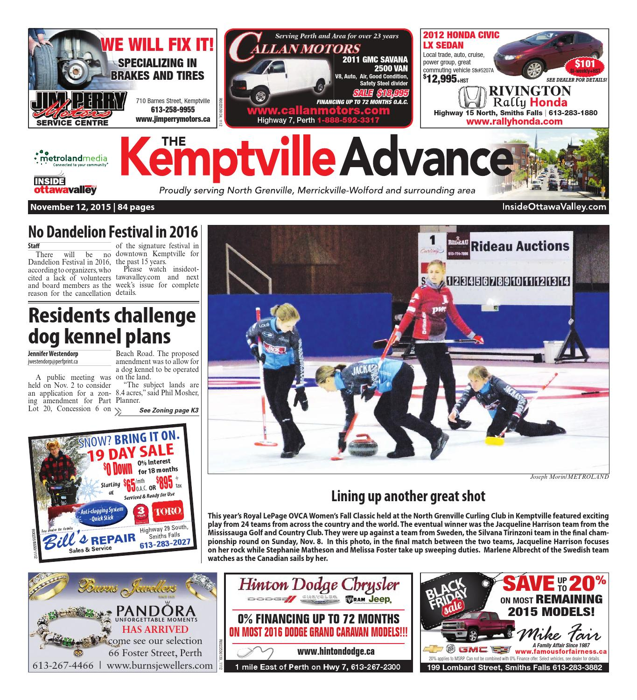 Kemptville111215 by Metroland East - Kemptville Advance - issuu