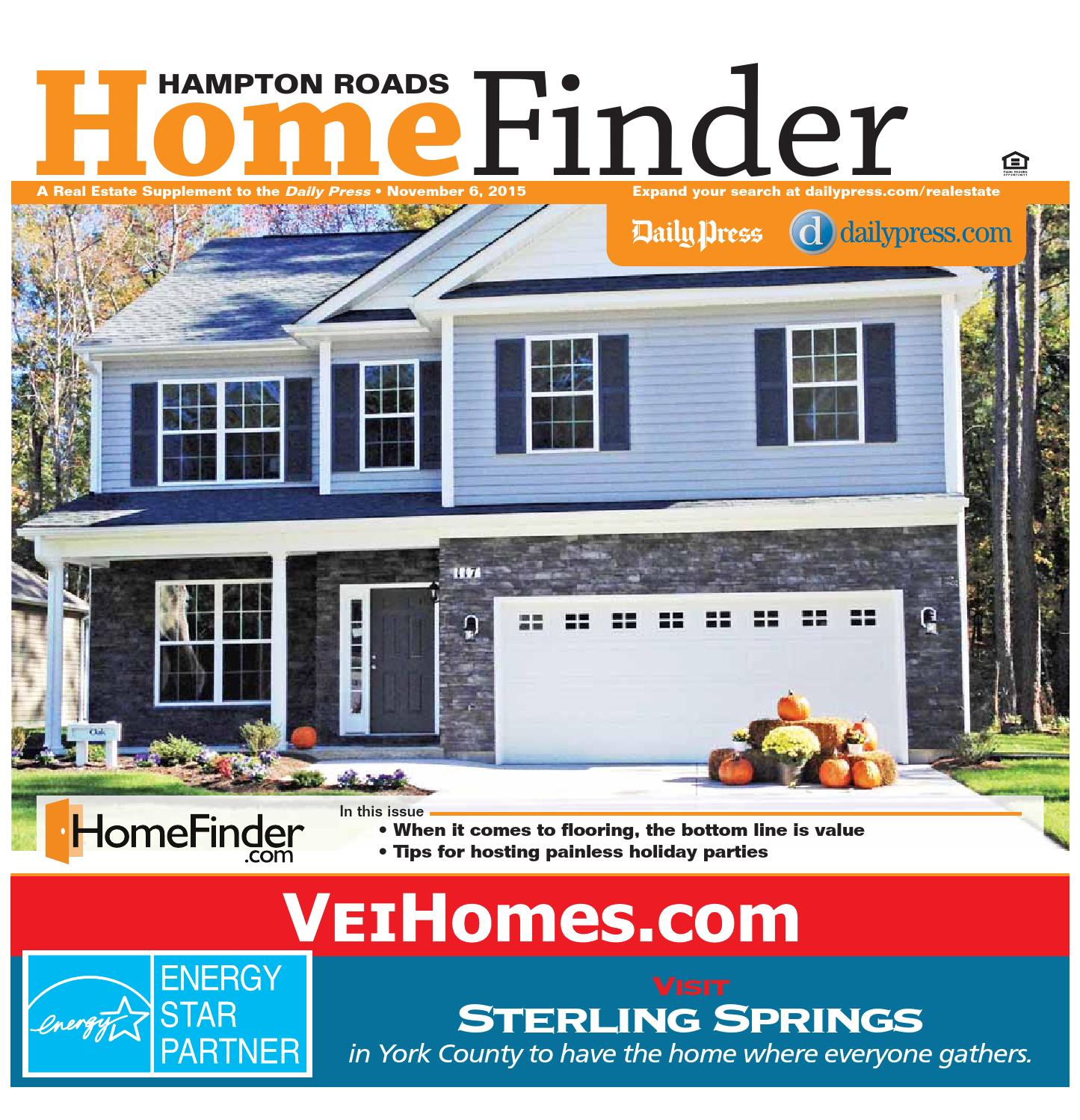 Home Finder For Rent: November 6, 2015 By Daily Press Media Group
