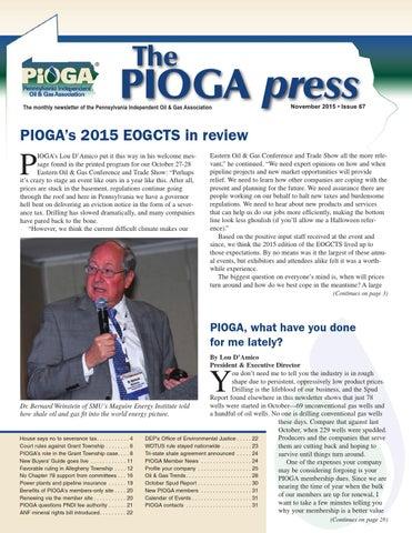 The PIOGA Press - November 2015 issue by mattpioga - issuu