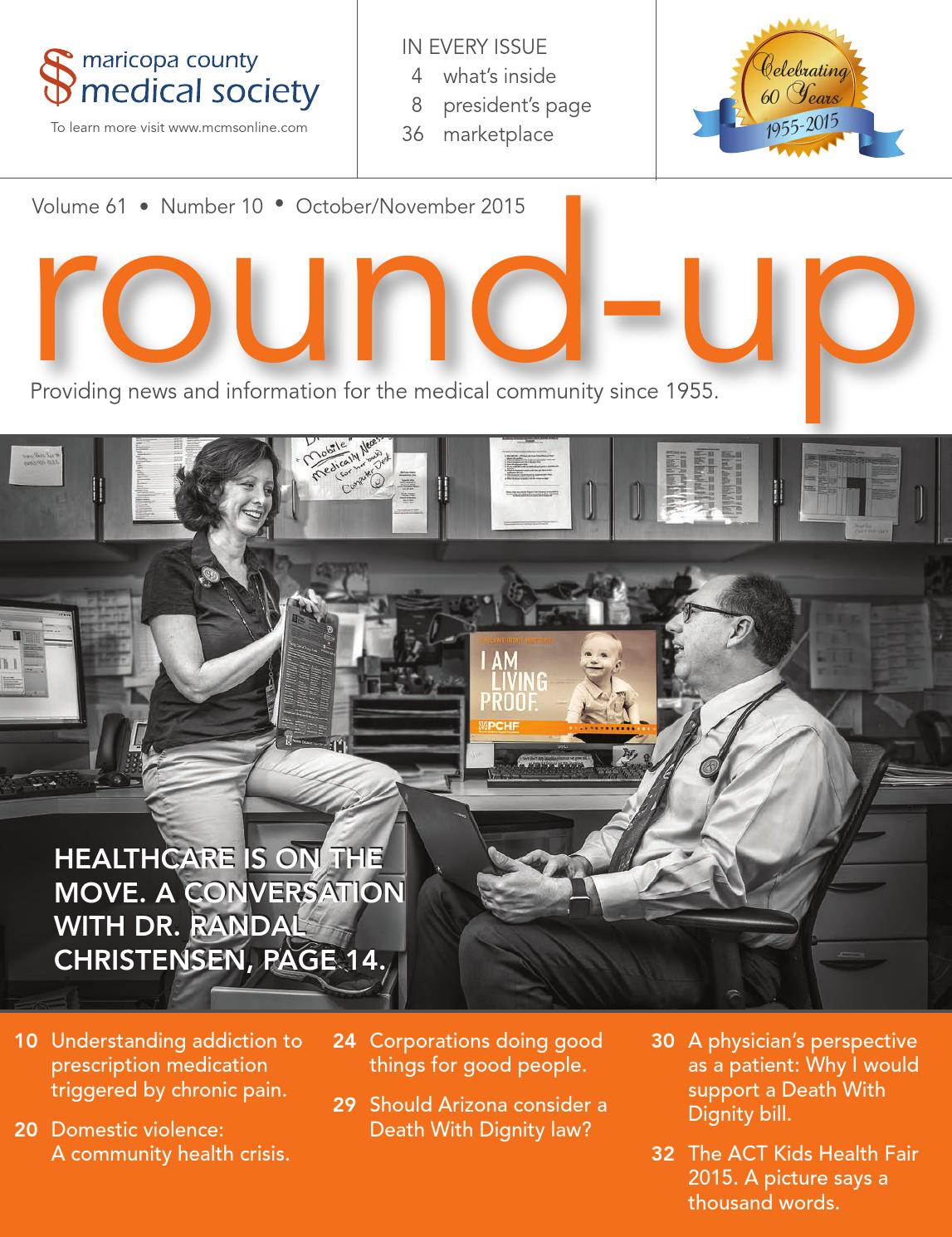 Round-up Magazine October 2015 by Maricopa County Medical ...
