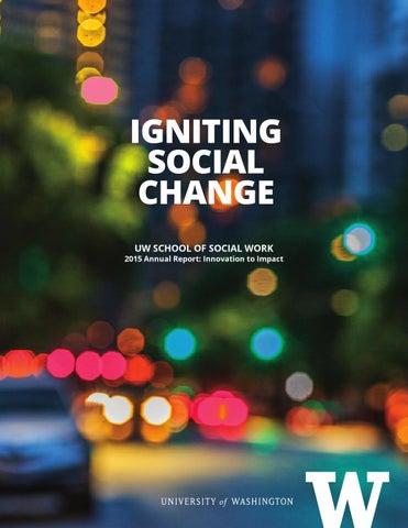 UW School of Social Work Annual Report 2015 by UW School of