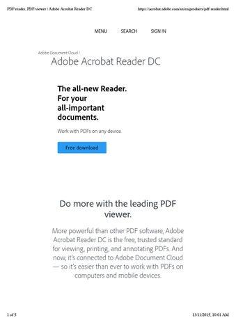 adobe pdf reader 2015 full version free download