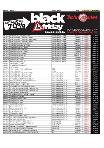 c1795533ce Technomarket black friday 13 11 2015 by katalozi.net - issuu