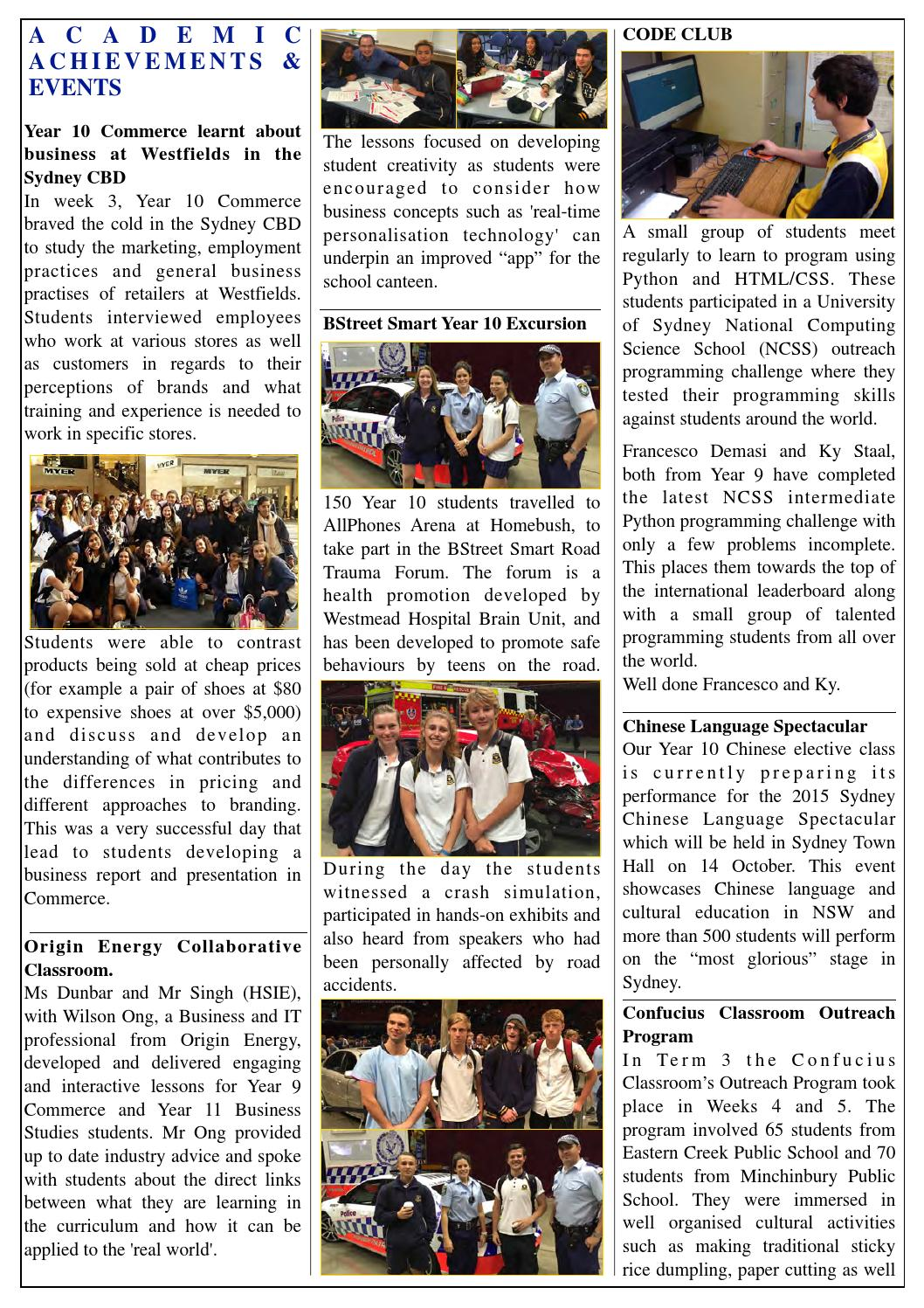 RHHS Missing Link 2015 Term 3 by Rooty Hill High School - issuu