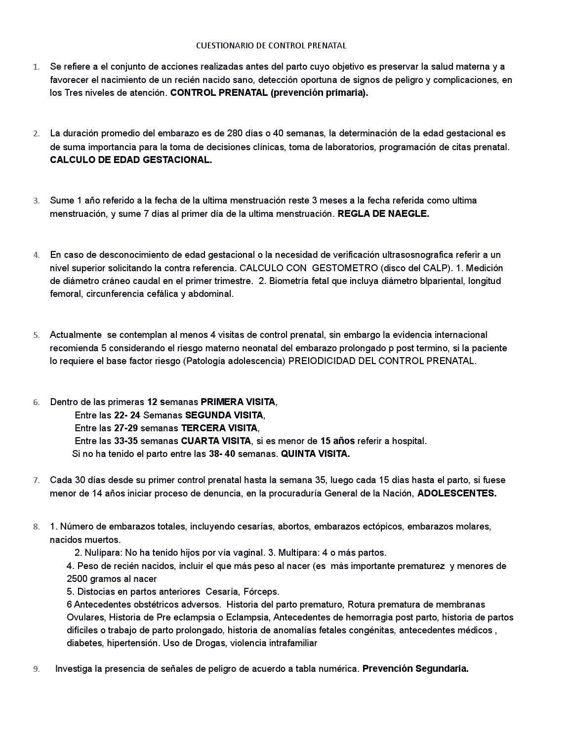 Cuestionario de control prenatal by maribely_arenas - issuu